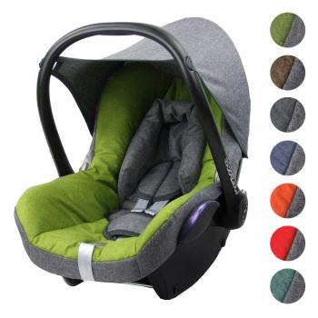 BAMBINIWELT Ersatzbezug Babyschale Maxi-Cosi PEBBLE MELIERT BRAUN-BRAUN
