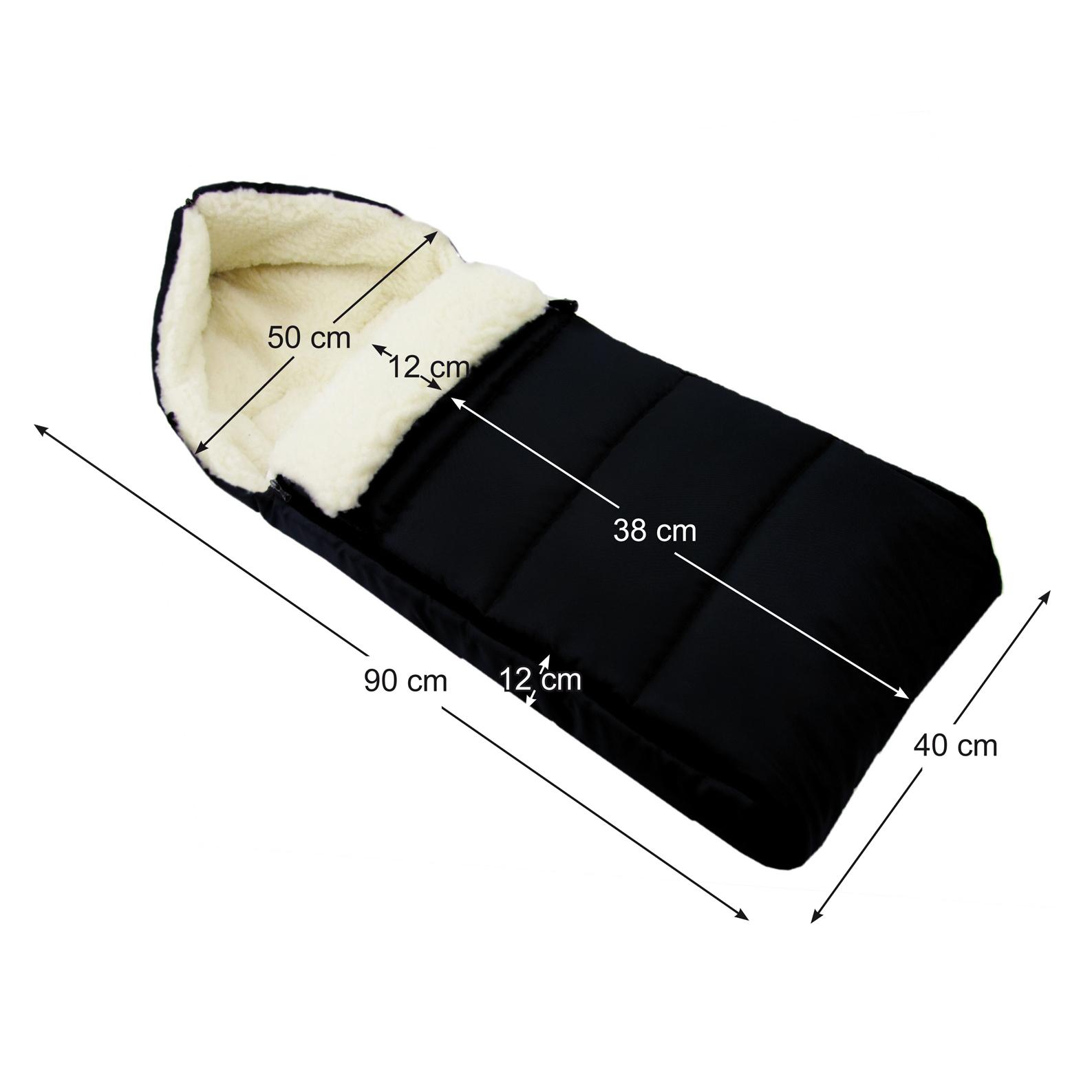 BAMBINIWELT MUFF+WINTERFUSSSACK Kinderwagen und Buggy 90cm WOLLE DESIGN