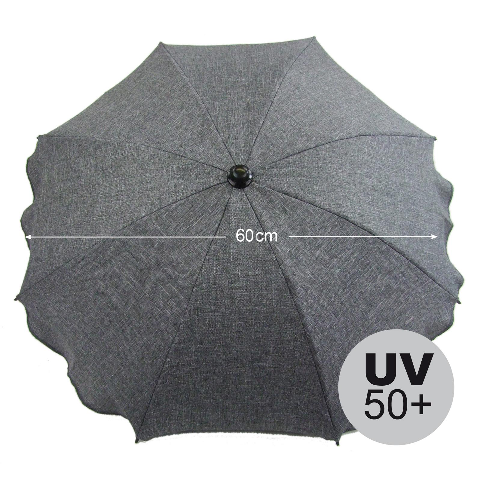 Rosa Rosa Kreise BAMBINIWELT Sonnenschirm f/ür Kinderwagen ECKIG /Ø74cm UV-Schutz50 Schirm Sonnenschutz SONDERPOSTEN reduziert